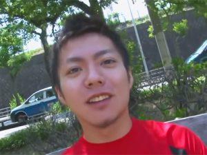 【ゲイ動画ビデオ】ぱっちり二重のイケメン田淵啓太が目隠し状態で場所を移動させられ目隠し野外プレイにチンポをビンビンにする!