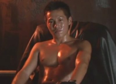 【ゲイ動画】キックボクシングで鍛えた良い身体のノンケが試合よりも緊張しつつホモビデオの撮影に挑みゲイのテクに喘ぎつつ絶頂する!
