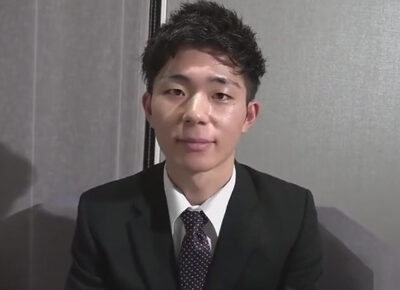 【ゲイ動画】面接に来たスーツイケメンが面接官のモロタイプ!面接官が職権乱用しケツマンやチンポにいたずらする!