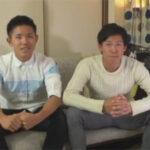 【ゲイ動画】友達と一緒にゲイ向けビデオに参加!19歳のノンケ2人組がゴーグルマンに責められて悶える姿をお互いに見られてしまう…!