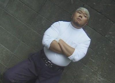 【ゲイ動画】34歳ガチムチガテン兄貴をグラビア撮影…!撮影後は非常階段の踊り場でマッパになって露出オナニー!