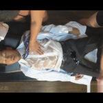【ゲイ動画】多忙な若い開業医が休憩中にうたた寝…夢の中で白衣を着たまま全身をローションまみれにされ連結セックスする夢を見てしまう!