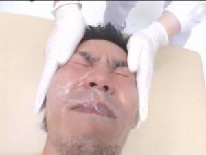 ザーメンエステ_顔射_電動オナホール_精子まみれ_ゲイ画像4