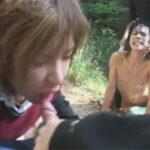 【ゲイ動画】山の中でレイプされるイケメンカップル!鬼畜なレイパーに野外排泄という行為に因縁を付けられて犯されてしまう…!