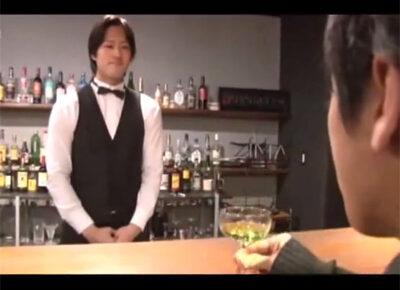 【ゲイ動画】ふらっと立ち寄ったバーの店主が超イケメン!お互いに素敵な人と思っていたらしくAFにハッテンし出した精子で特製カクテル作成!