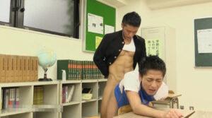 笛舐め_学ラン_教室でAF_男子校生_ゲイ画像4