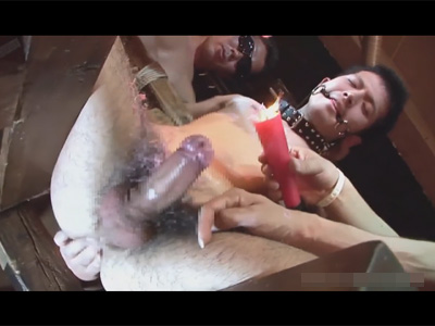 【ゲイ動画】ローソク責めでフル勃起するM男君!虐められた後は輪姦ファックで廻され無数のギン勃ちチンポでケツマン連続姦!