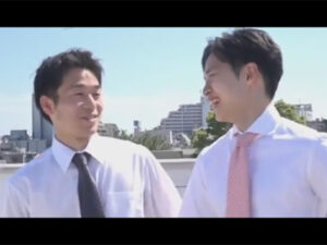 【ゲイ動画ビデオ】2人のさわやかな雰囲気のスーツ姿の男が愛を感じながらアナルセックスを楽しむことになる!