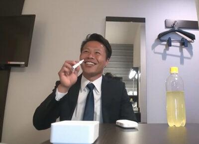 【ゲイ動画】ノリの良い24歳のノンケリーマンが男にイジられることにチャレンジ!チンポや金玉を舐られてヌルヌル手コキで昇天する!
