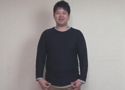 【ゲイ動画】色白の体のぽっちゃりとしている素人の男がゴーグルマンの技を照れながら楽しむことになる!